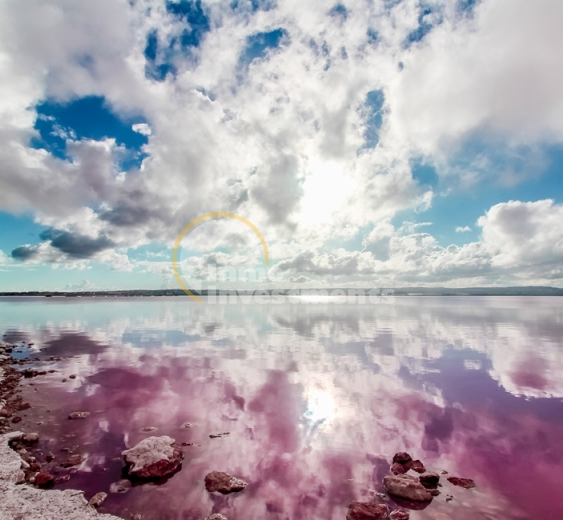 The spectacular pink salt lakes of Torrevieja and La Mata, Spain