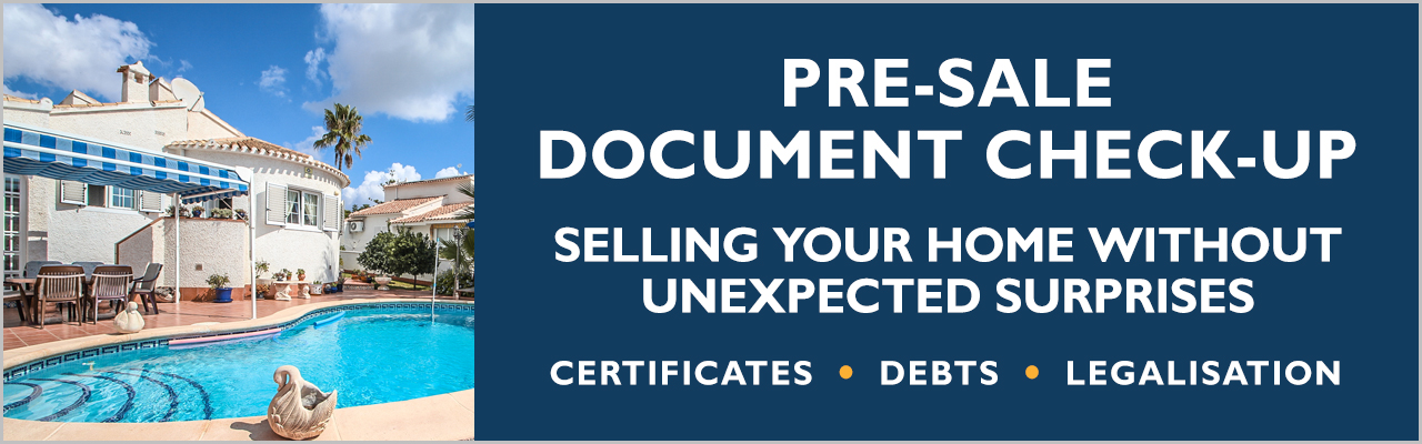 Document checking service for property sellers on the Orihuela Costa