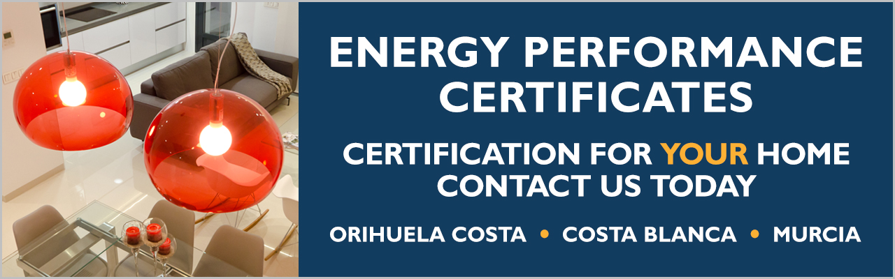 Energy performance certificates (EPC) for property sellers on the Orihuela Costa