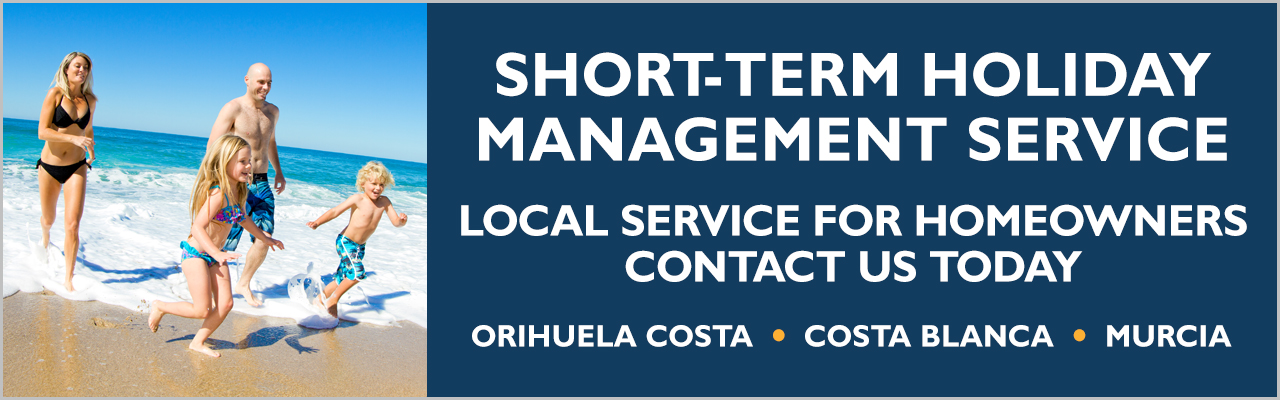 Short-term holiday rental service for homeowners on the Orihuela Costa