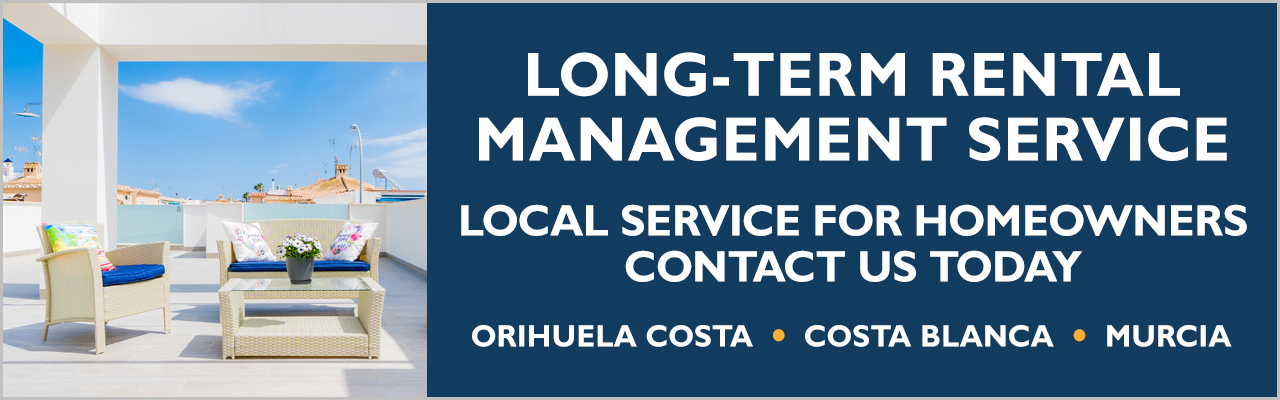 Long-term residential property rental service for homeowners on the Orihuela Costa