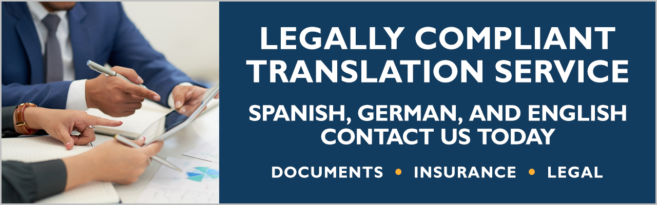 Legally compliant digital translation services for Spanish, German and English languages