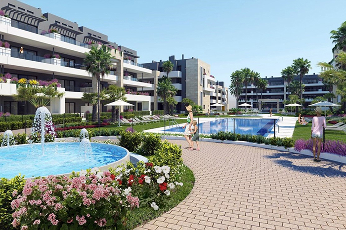 New build luxury apartments in Playa Flamenca, Costa Blanca