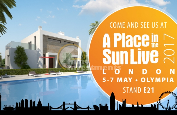 Fería inmobiliaria A Place in the Sun Live 2017 London Olympia, 5-7 May 2017