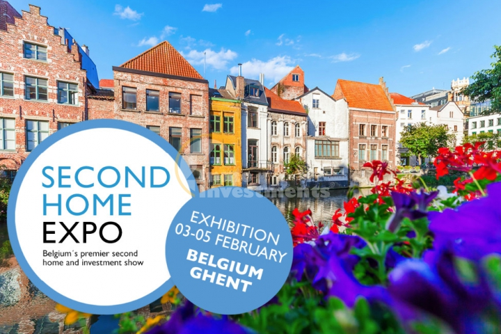 Second Home Expo property exhibition, Ghent Belgium, 03-05 February 2018